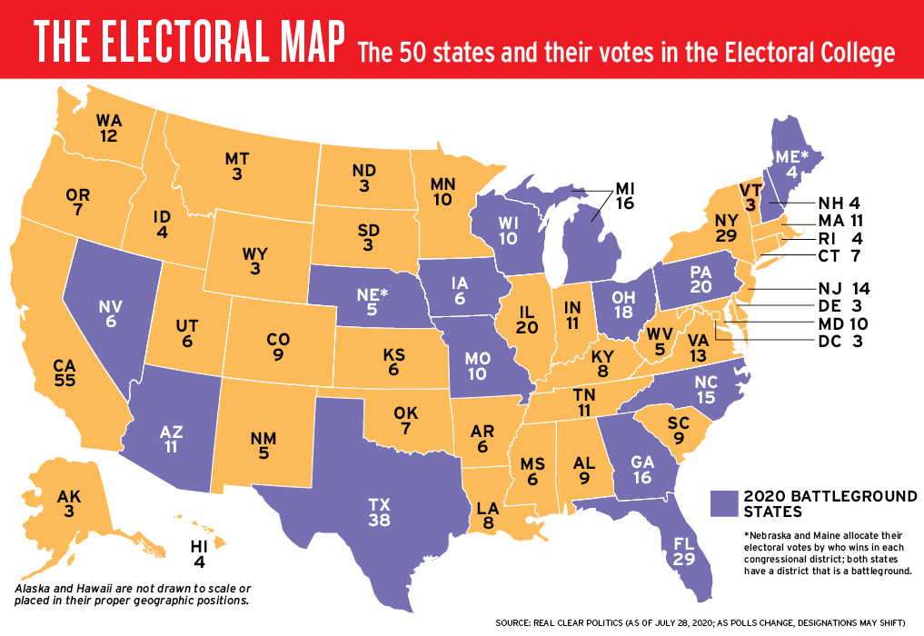 Tap In Electoral Map
